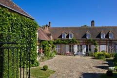 法国gerberoy房子村庄 免版税图库摄影