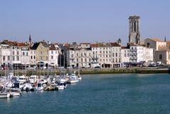 法国la端口罗沙尔 免版税库存图片