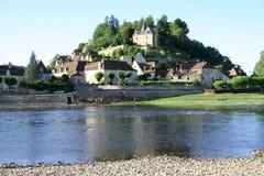 法国limeuil村庄 库存照片