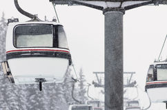 法国meribel风景冬天 免版税图库摄影