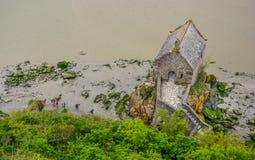 法国michel mont诺曼底圣徒 库存照片