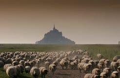 法国michel mont诺曼底圣徒 图库摄影