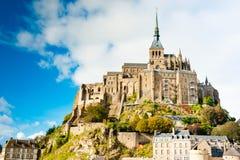 法国michel mont诺曼底圣徒 免版税图库摄影