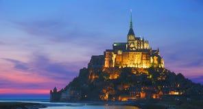 法国michel mont诺曼底st 免版税库存图片