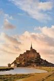 法国michel mont诺曼底st 库存图片