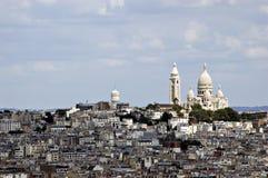 法国montmartre视图 免版税库存照片
