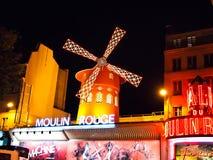 法国moulin巴黎胭脂 图库摄影
