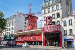 法国moulin巴黎胭脂 免版税库存图片