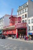 法国moulin巴黎胭脂 库存照片