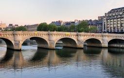 法国neuf巴黎pont 库存照片