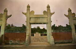 法坛古老北京圈子晚上星期日寺庙 库存图片