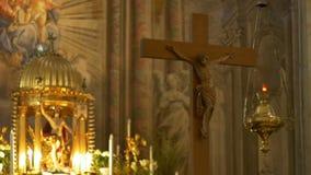 法坛和耶稣耶稣受难象 股票录像