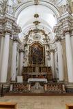 法坛在一个盛大大教堂里 免版税图库摄影