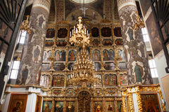法坛在东正教教会里 库存照片