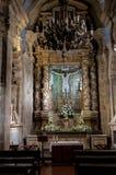 法坛在圣地亚哥大教堂里 图库摄影