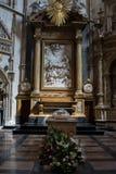 法坛在大教堂,托莱多,西班牙里 库存照片