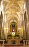 法坛大教堂交叉内部墨西哥墨瑞利亚 库存图片