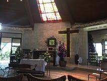 法坛天主教教会 库存图片