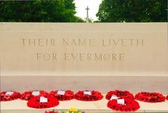法坛,英国战争墓地在巴约,诺曼底 免版税图库摄影