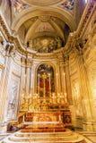 法坛SS温琴佐E阿纳斯塔西奥教会大教堂圆顶Trevi罗马意大利 免版税图库摄影