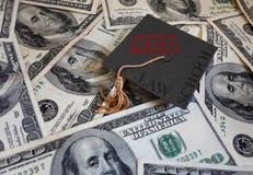 法学院债务 免版税库存图片
