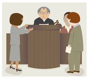 法官律师法庭 免版税库存照片