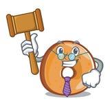 法官百吉卷吉祥人动画片样式 向量例证