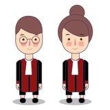 法官的逗人喜爱的动画片传染媒介例证 穿长袍服装的孩子 皇族释放例证