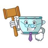 法官钢罐吉祥人动画片 皇族释放例证