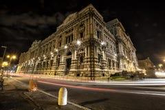 法官,判决撤销和司法公立图书馆最高法院宫殿  罗马 意大利 免版税库存图片