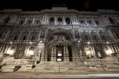法官,判决撤销和司法公立图书馆最高法院宫殿  罗马 意大利 免版税库存照片