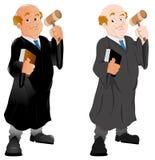 法官-传染媒介字符例证 库存照片