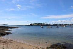 法尔茅斯港口和出海口 库存图片