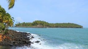 法属圭亚那,救世海岛:皇家海岛,凋谢的des石榴汁糖浆,恶魔海岛 图库摄影