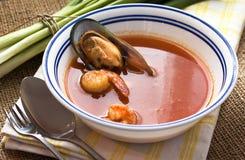 法式海鲜汤 库存照片