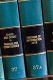 法律书籍在图书馆里 免版税库存图片