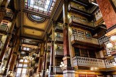 法律图书馆在衣阿华状态国会大厦 免版税库存照片