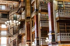 法律图书馆在衣阿华状态国会大厦 免版税库存图片
