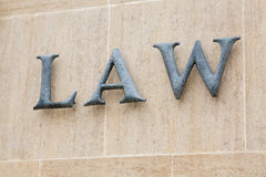 法律字 免版税库存图片
