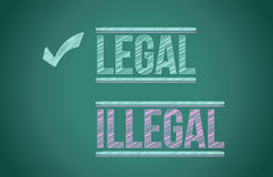 法律对非法 库存照片