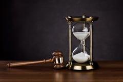 法律帮助时间 库存图片