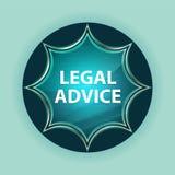 法律建议不可思议的玻璃状旭日形首饰蓝色按钮天蓝色背景 库存例证