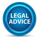 法律建议眼珠蓝色圆的按钮 库存例证