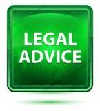 法律建议霓虹浅绿色的方形的按钮 皇族释放例证