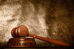 法律惊堂木离婚 免版税库存图片