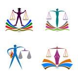 法律教育商标 向量例证