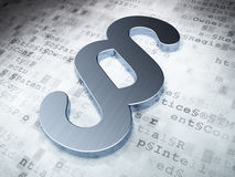 法律概念:在数字式背景的银色段 免版税库存图片