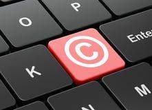 法律概念:在键盘的版权 免版税库存图片