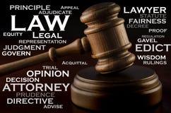 法律的词 免版税库存照片