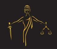 法律风格化象 向量例证